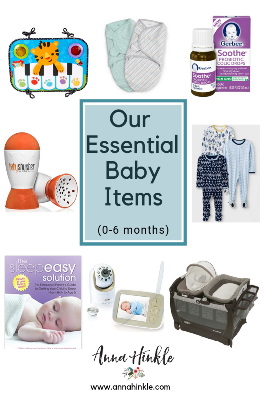 Our Essential Baby Items (0-6 months)